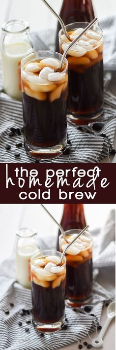This Perfect Homemade Iced Coffee is a simple, homemade cold brew coffee that will make you think it's a coffee house treat!: