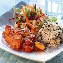 Indisk Chicken Tikka Masala     Hotta till rätten med lite chili på rekommendation av en av våra medlemmar så blir den riktigt autentisk!