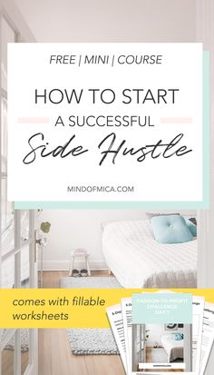 Learn how to launch a profitable side hustle based on your passion in this free mini course – delivered straight to your inbox! In only 5 days, you can make extra income from a passion-based side business. Perfect for the go-getting millennial and the pas Work From Home Tips, Make Money From Home, Way To Make Money, Home Based Business, Business Tips, Online Business, Creative Business, Business Sales, Business Entrepreneur