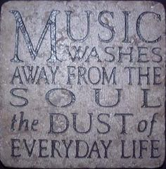 Music Washes the Soul. During the day...KLove...at night...anything from my Pandora to a local Jazz station. I love music.