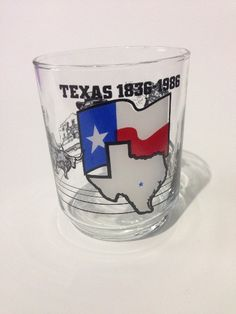 "Vintage 1836-1986 Texas 150th Anniverary 4"" Collectible Glass NASA Oil Wells"