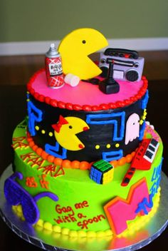 The perfect 80's cake, (only the bottom)