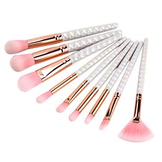 shenzhen shi cosmetic factory price of makeup kit pink bristles 8pcs makeup brush set