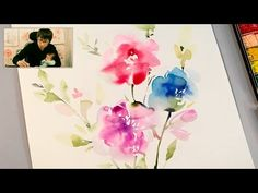 [ Level 1 ] How To : Watercolour Painting Tutorial for Beginners / Fun Art Techniques for Kids ❖ Jay Lee is a specialized watercolor artist. Simple Watercolor Flowers, Watercolor Flowers Tutorial, Watercolor Video, Watercolor Projects, Watercolour Tutorials, Watercolor Artists, Watercolor Techniques, Floral Watercolor, Watercolor Paintings