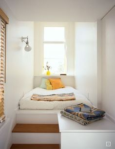 Simple, cozy bed nook.    Image: Fernau & Hartman  via Desire to Inspire