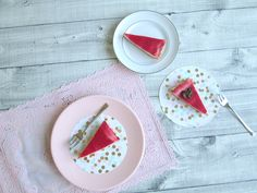 Luchtige aardbei cheesecake - NO-BAKE strawberry cheesecake