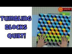 How to Make a Tumbling Blocks Quilt with No Y-Seams! - YouTube