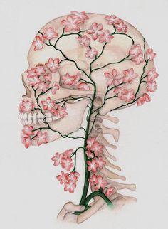 Pink flower skull vintage dictionary print vintage book print page flowerskull by mmiserylovescompany mightylinksfo