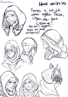Silly Chicken Scratch, I've been asked a lot about how I draw hoods,...