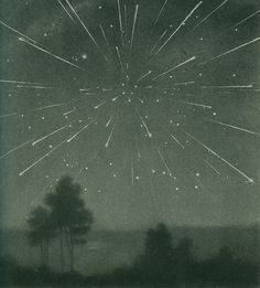 The radiant meteor storm of 9 October 1933, Larousse Encyclopedia of Astronomy.