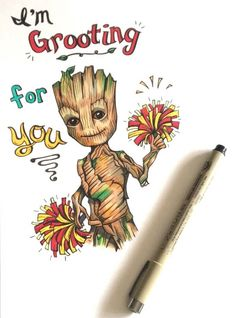 A personal favorite from my Etsy shop https://www.etsy.com/ca/listing/586681701/baby-groot-super-cute-and-punny-blank