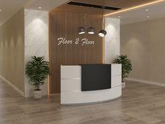 Curved Reception Desk, Office Reception Design, Reception Counter, Reception Desks, Spa Room Decor, Modern Office Desk, Office Decor, Design Salon, Decoration