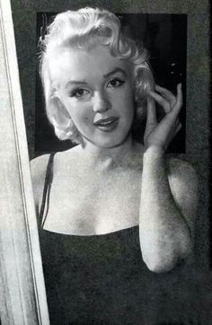 Marilyn at Milton Greene's New York studio in 1955. Photo by Milton Greene.
