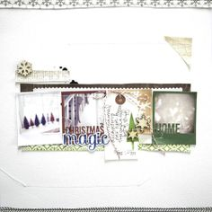Love how she lined up the polaroid frames on this layout! SC CHRISTMAS MAGIC