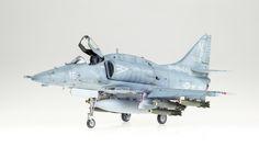 Hasegawa 1:48 scale model A-4F Skyhawk by Matt McDougall aka Doogs'.