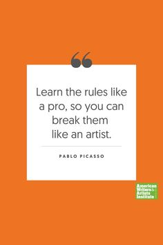 """Learn the rules like a pro, so you can break them like an artist.""     Get your creative juices flowing w/ AWAI writing prompts. Get writing prompts, copywriting training, freelance writing support, and more at awai.com! #awai #writerslife #freelancewriting #copywriting #writing Writing Skills, Writing Prompts, Pablo Picasso Quotes, Creative Writing Inspiration, Freelance Writing Jobs, Writing Assignments, New Career, Writing Quotes, Copywriting"