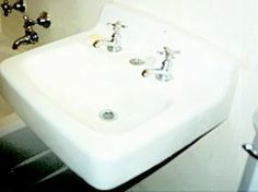 A bathroom sink.