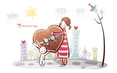 Romantic Valentine's Day illustration class 10827