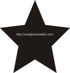 5 Point Printable Star Template Stencil
