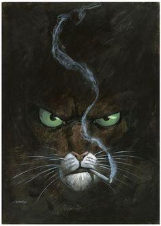 comicblah: Blacksad by Juanjo Guarnido . Character Concept Art