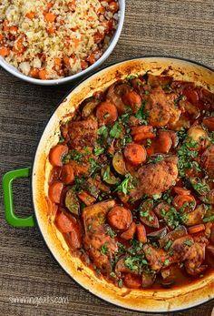 Slimming Eats - Moroccan Chicken Casserole - Gluten Free, Dairy Free, Paleo, Slimming World, Weight Watchers friendly