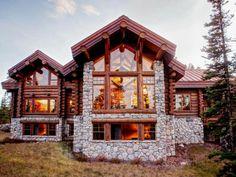 "Extravagant ""log cabin"" fully furnished. MT USA"