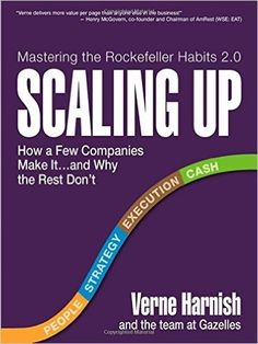 Amazon.com: Scaling Up: How a Few Companies Make It...and Why the Rest Don't (Rockefeller Habits 2.0) (8601409544588): Verne Harnish: Books