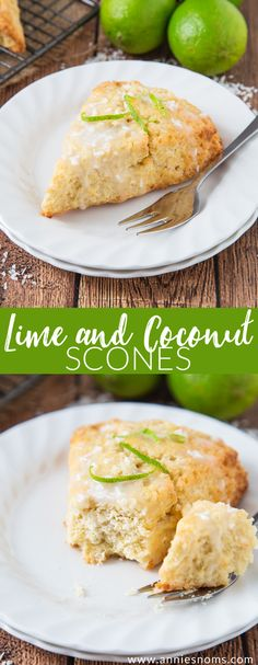 Pinner wrote: These Lime and Coconut Scones bring a taste of the tropics to a dull winter's day! Served with a coconut glaze, these are a perfect way to start the day! Brunch Recipes, Breakfast Recipes, Dessert Recipes, Scone Recipes, Breakfast Scones, Delicious Desserts, Yummy Food, Crockpot, Coconut Recipes