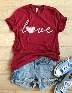 b92ea81726 Hand Screen Printed With Eco Water Based Ink. Disney Love T Shirt. Cool T  Shirt.