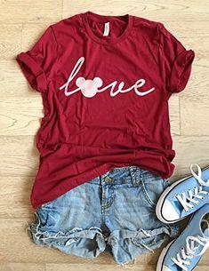 Mickey Mouse Love. Disney Love T Shirt. Cool T Shirt. Disney Trip Shirt. Unisex Fit. Crew-Neck Shirt.