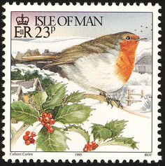 European Robin stamps - mainly images - gallery format