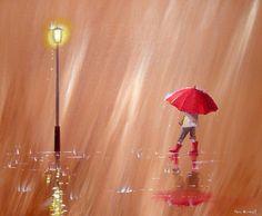 paintings of umbrellas, dancing in the rain, red umbrella, umbrella art, wellies… Umbrella Painting, Rain Painting, Umbrella Art, Under My Umbrella, Walking In The Rain, Singing In The Rain, Photo Deco, Rain Art, Love Rain