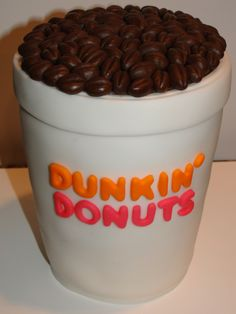 Sweet Dunkin' Donuts cup birthDDay cake!
