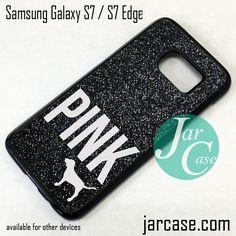 Black Glitter Victoria's Secret Phone Case for Samsung Galaxy S7 & S7 Edge