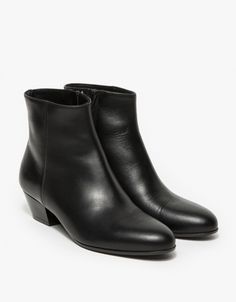 Zip Ankle Boot in Leather