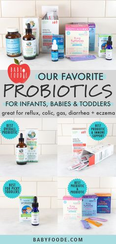 These 6 Best Probiotics for Infants, Baby + Toddlers that will help with colic, gas, diarrhea, const Baby Puree Recipes, Baby Food Recipes, Best Baby Food Brand, Probiotics For Constipation, Obesity Help, Baby Gas Relief, Toddler Muffins, Baby Food By Age, Avocado Baby