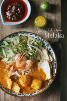 masam manis: Laksa Lemak Nyonya Melaka Duck Recipes, Asian Recipes, Healthy Recipes, Ethnic Recipes, Cake Recipes, Healthy Food, Armenian Recipes, Irish Recipes, Armenian Food