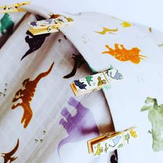 Beautiful hand painted pram pegs and muslins for baby Beautiful Hands, Hand Painted, Cards, Maps, Playing Cards