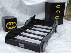 Go all in and get your kid this Batman bed set.
