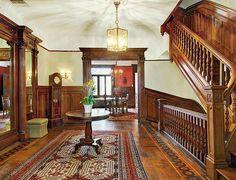 West 142nd Street New York Hamilton Heights brownstone Victorian woodwork interior