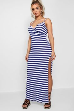 8d8ad81862e Click here to find out about the Plus Maya Wrap Front Stripe Maxi Dress  from Boohoo