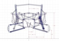Ariel Nomad suspenssion CAD drawing