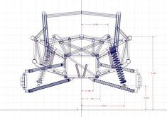 Ariel Nomad suspenssion CAD drawing