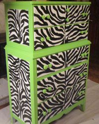 Zebra and lime green...LOVE it!