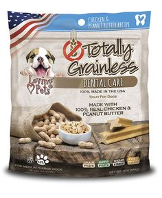 Loving Pets Totally Grainless Chicken and Peanut Butter Recipe Dental Care for Medium/Large Dogs (1 Pack), 6 oz ^^ Remarkable product available now. : Dog treats