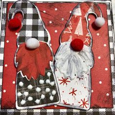 Diy And Crafts, Paper Crafts, Card Crafts, Pinterest Birthday Cards, Christmas Cards, Christmas Ornaments, Christmas Ideas, Hello Monday, Christmas Gnome