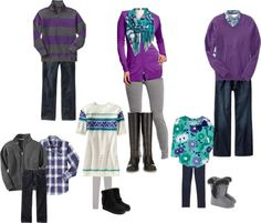 """Teal/Purple/Gray Family Photos"" by artsybehrle on Polyvore"