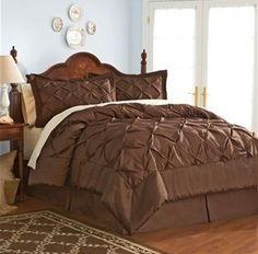 comforter sets chocolate brown   designer living brown comforter set HOT! 4 piece Comforter Set for ...