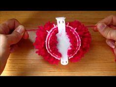 Corazón en telar de pompones / Heart on pompom maker - YouTube