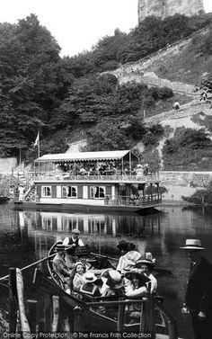 Photo of Knaresborough, The Ferry 1911 from Francis Frith Old Photos, Vintage Photos, Steam Boats, Canal Boat, Stylish Hats, Boater, Vintage Photography, Yorkshire, Vintage Fashion